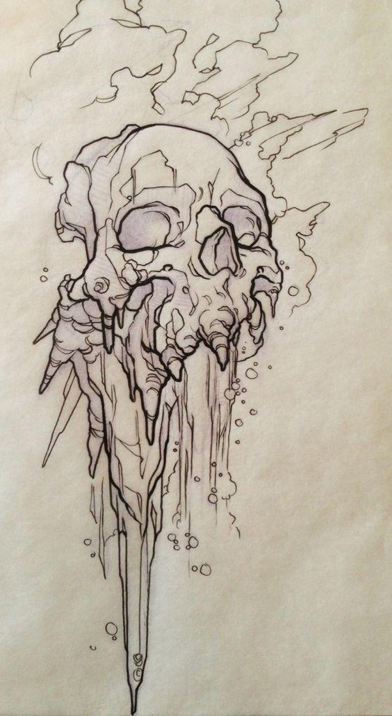 imagenes de calaveras para dibujar dificiles