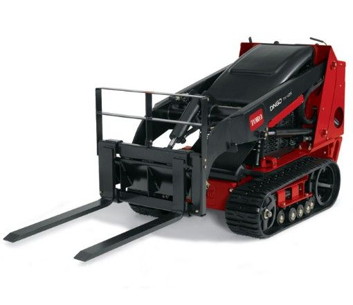 This Dingo Mini Skid loader made by Toro is great for smaller jobs. It's a walk behind unit. Engine: Kubota Liquid-Cooled Diesel Horsepower: 25 Hydraulic System Pressure: 3000 psi relief Auxiliary Flow: 13.8 gpm Track: Endless kevler reinforced rubber Controls: Key, throttle, choke Steering: Single control w/ref. bar Overall Length: 70.7″ Overall Width: 33.7″ Overall Height: 46.1″ Bucket Hinge Pin Height: 65.8″ Travel Speed – High: 4.5 …
