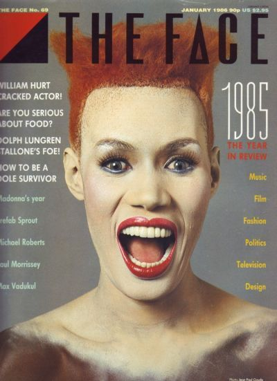 Neville Brody (designer), The Face january cover 1986.