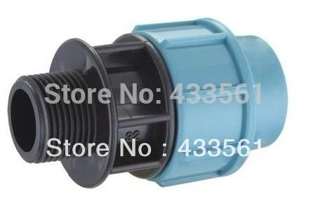 """Quality PP Compression Fittings Male adapting DN20 X1/2 """" connector for warm and cold water Pipeline Application"""