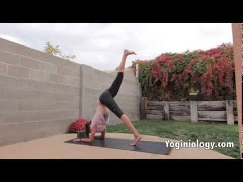 Yoga Handstand Tutorial for Beginners - Yoga Inversions, Arm Balances to...