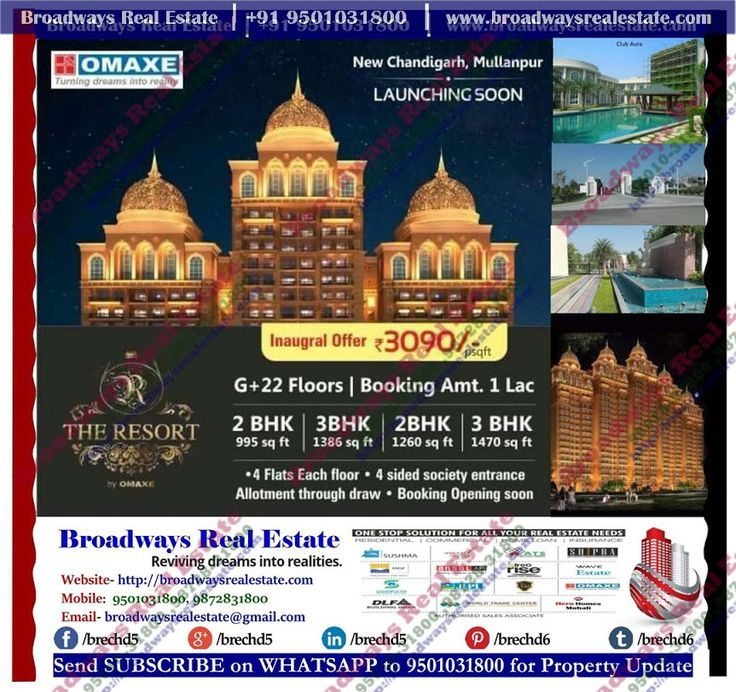 3bhk flats in omaxe the resort