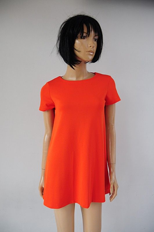 b9103aedbd Mohito sukienka pomarańczowa trapezowa r. 34 - Vinted