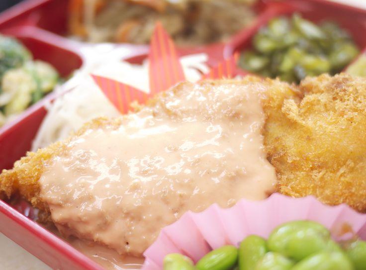 トマトランチ:大人気!白身魚フライ/オーロラソース