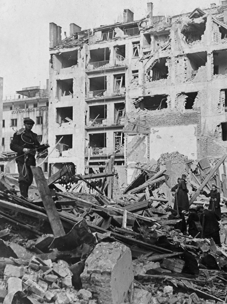 bulgaria 1944 damage to the capital city of sofia from