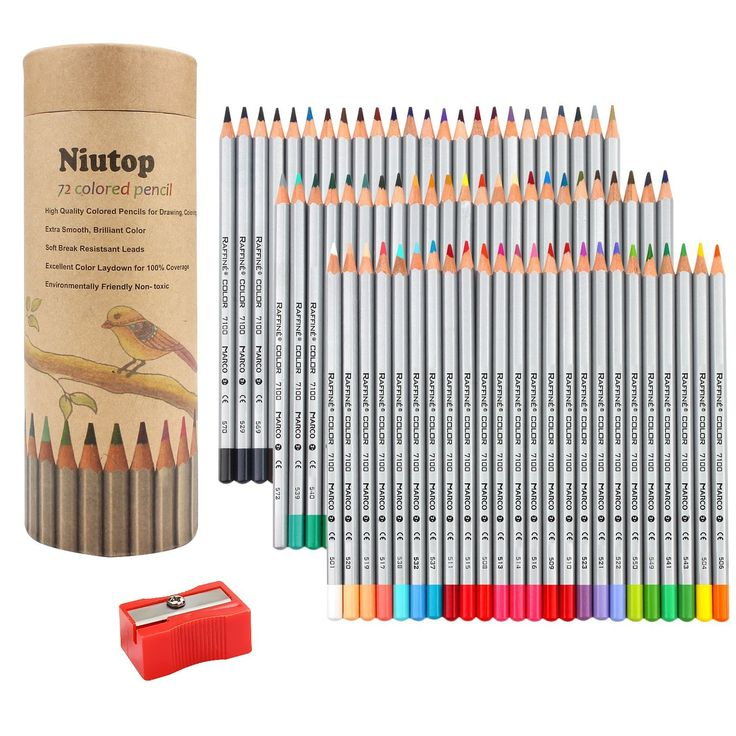 30OFF NIUTOP 65 Coloured Soft Core Colouring Art Pencils With FREE Pencil Pen