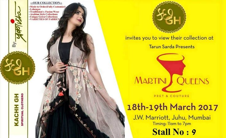 Get Ready for a #FashionCarnival That Will Bring You the Latest #Fashion and #Lifestyle Trends from all over the country.  Martini Queens Exclusively unveiling the latest collection of Kachh Gh latest collection on 18th and 19th March 2017 at JW Marriott Hotel Mumbai Juhu.  For Queries Contact @ 09811923456   #Jewelery #Bombay #Apparels #Shopping #Trend #Trending #Designer #Models #Couture #Luxury #Women #Bollywood #Celebrity