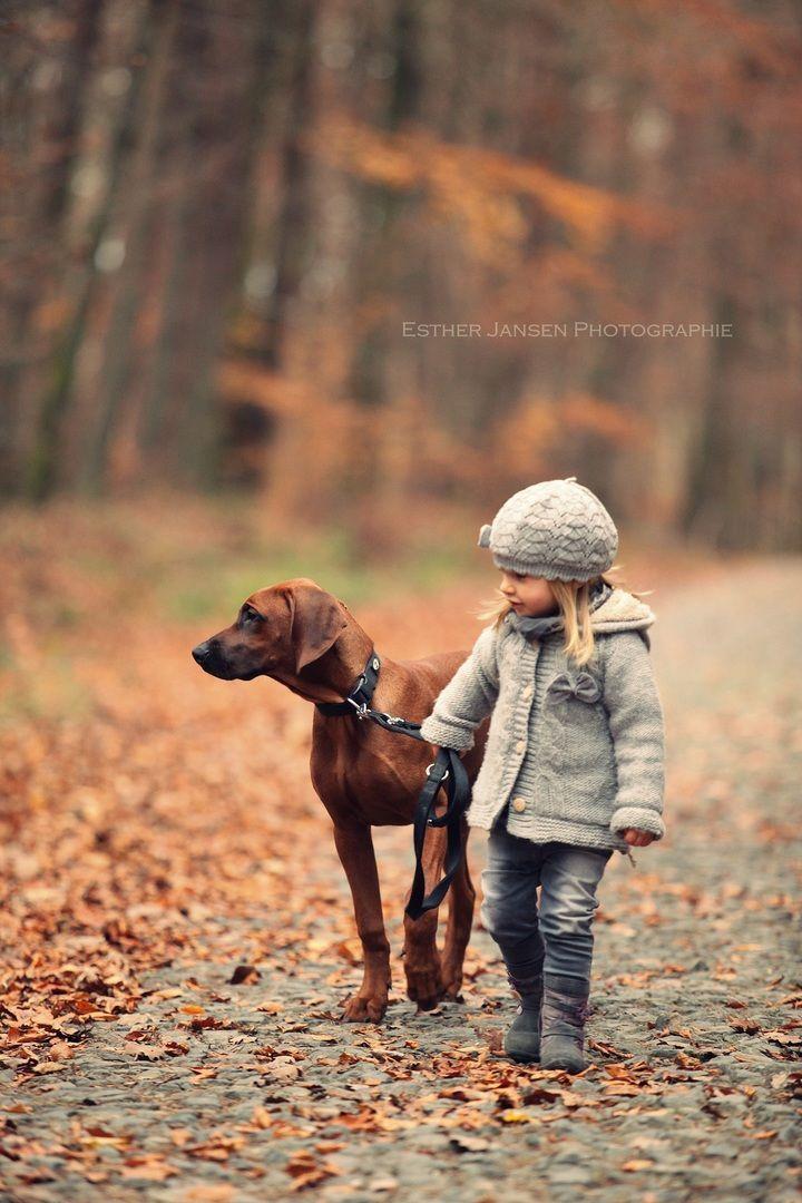 Buddy Bello Im Herbst Kleines Madchen Mit Hund Hunde Hunde Und Kinder Kleines Madchen