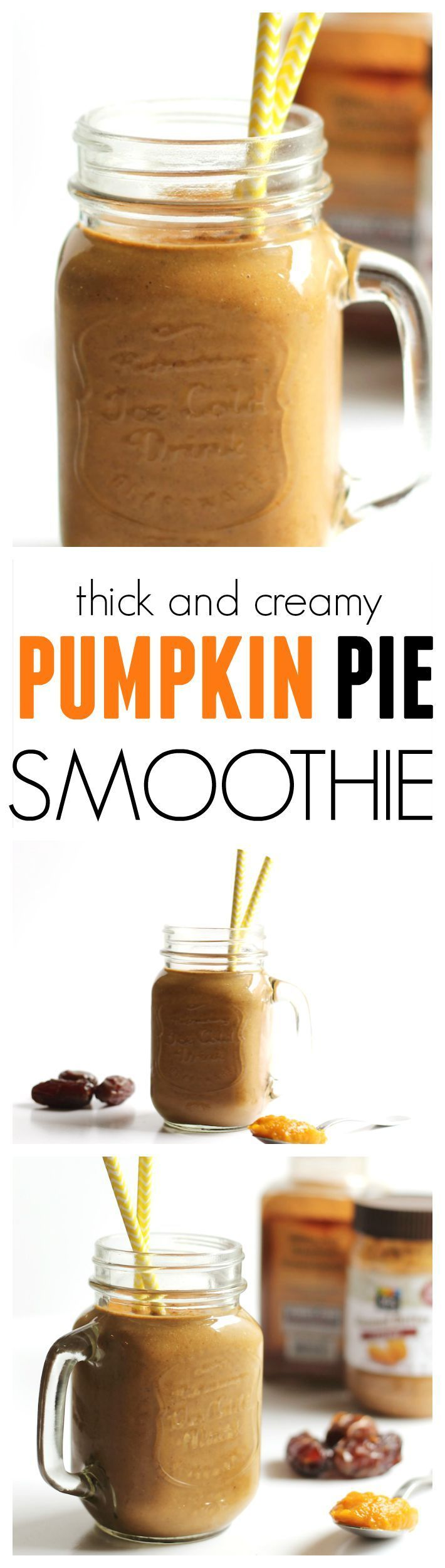 Thick & Creamy Pumpkin Pie Smoothie // gluten free, no added sugar, vegan #fall