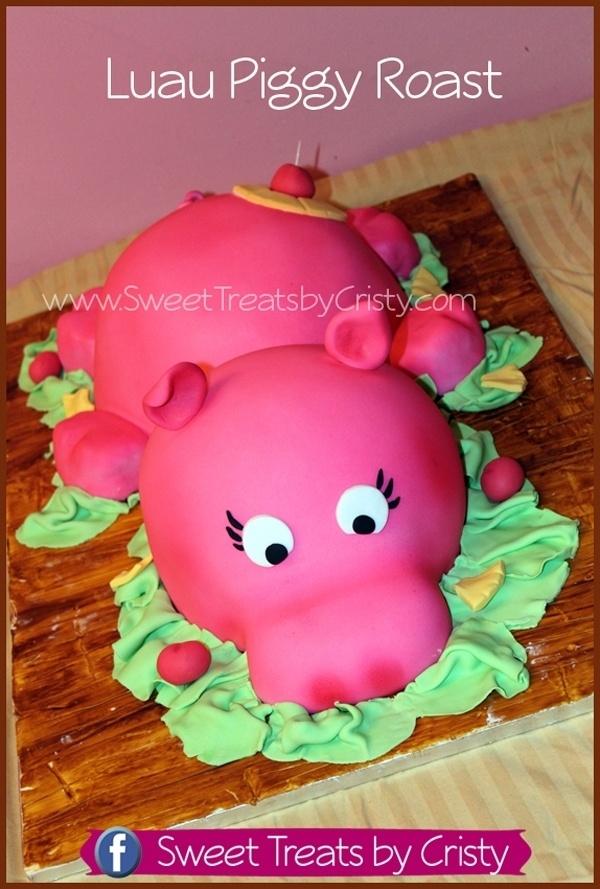 Luau Piggy Cake
