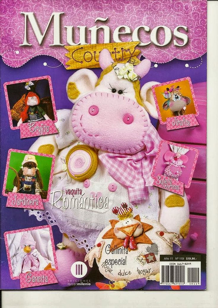 Revistas de manualidades gratis: como hacer una vaca en fieltro