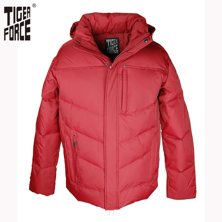 Find More Down Jackets Information about TIGER FORCE Hot Sale Men White Duck Down Jacket Winter Down Coat With Hood Solid Zipper Free Shipping D 265,High Quality zipper wallet men,China zipper thong Suppliers, Cheap zipper hat from TIGER FORCE on Aliexpress.com