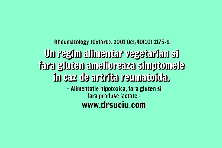 Photo Beneficiile dietei vegetariene, fara gluten in caz de artrita reumatoida - drsuciu