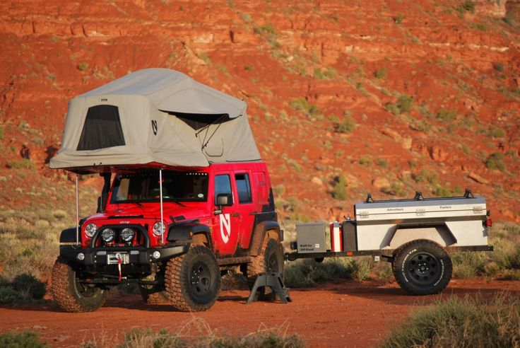 Adventure Trailers, Inc. (AT) manufacturer of Built for Offroad trailers and accessory equipment for 4×4 has created the Habitat Hardtop designed exclusively for the Jeep Wrangler Unlimited JK 4 door.