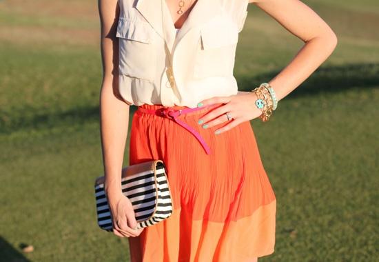 Love the skirt: Orange Skirt, Inspiration S S, Style Inspiration, Color, Outfit Inspirations, Closet Inspiration, Shirt