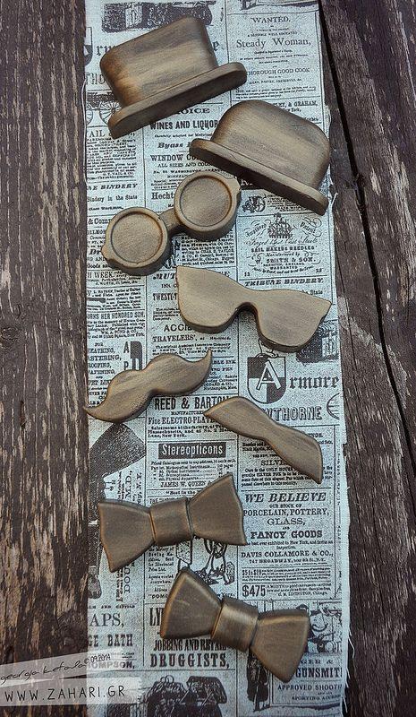 Μικρός Kύριος. Σαπούνια μουστάκια, σαπούνια παπιγιόν, σαπούνια γυαλιά, σαπούνια καπέλα. Mustache soap, tie bow soap, sunglasses soap, top hat soap.