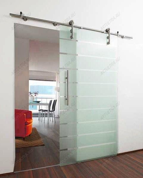 Перегородки из стекла в комнате