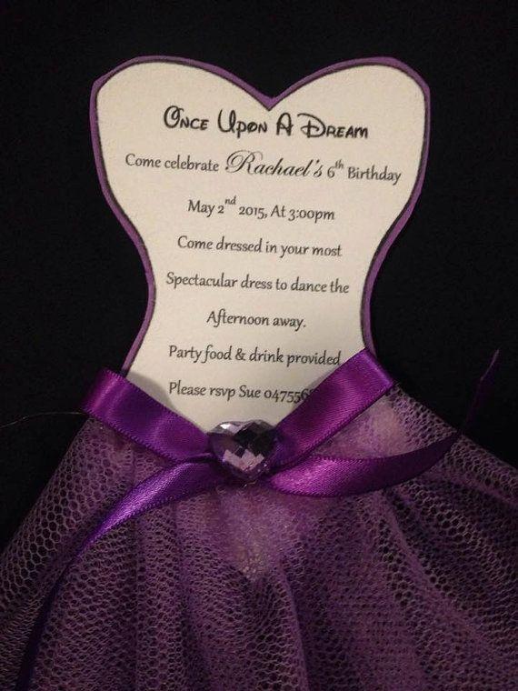 Disney Tangled/Rupunzel Dress Invitation by PerfectlyPersonalise