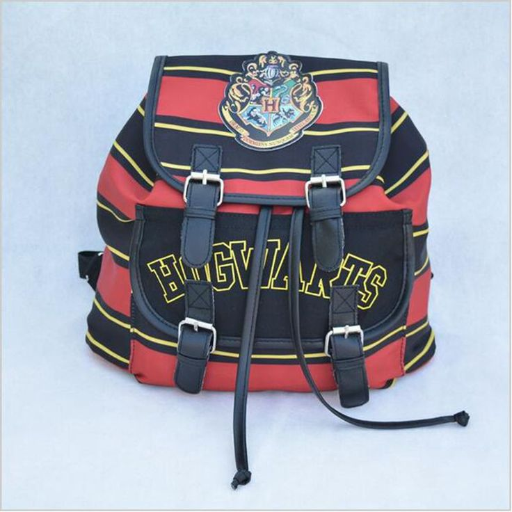 Harry Potter Backpack Printing Stripped Canvas Cartoon Harry Potter Buckle Slouch Children School bag mochila feminina Backpacks