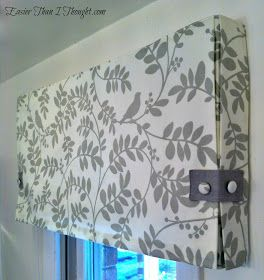 Easier Than I Thought: Box Pleat Valance with Roman Shade possibly Dining Room?