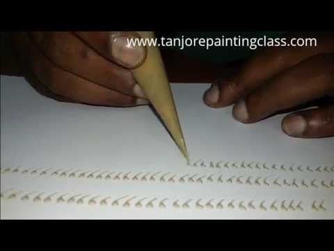 Tanjore paintings | DIY | Lesson 5 - how to make tanjore paintings designs…