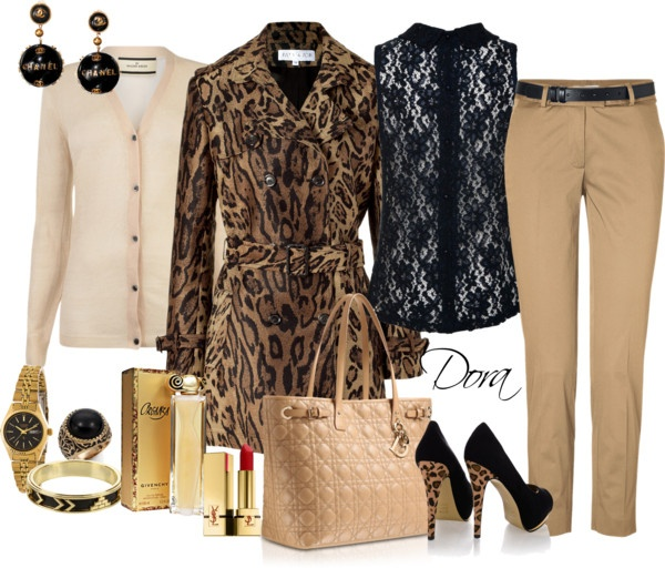 """capotto leopardato"" by doradabrowska on Polyvore"