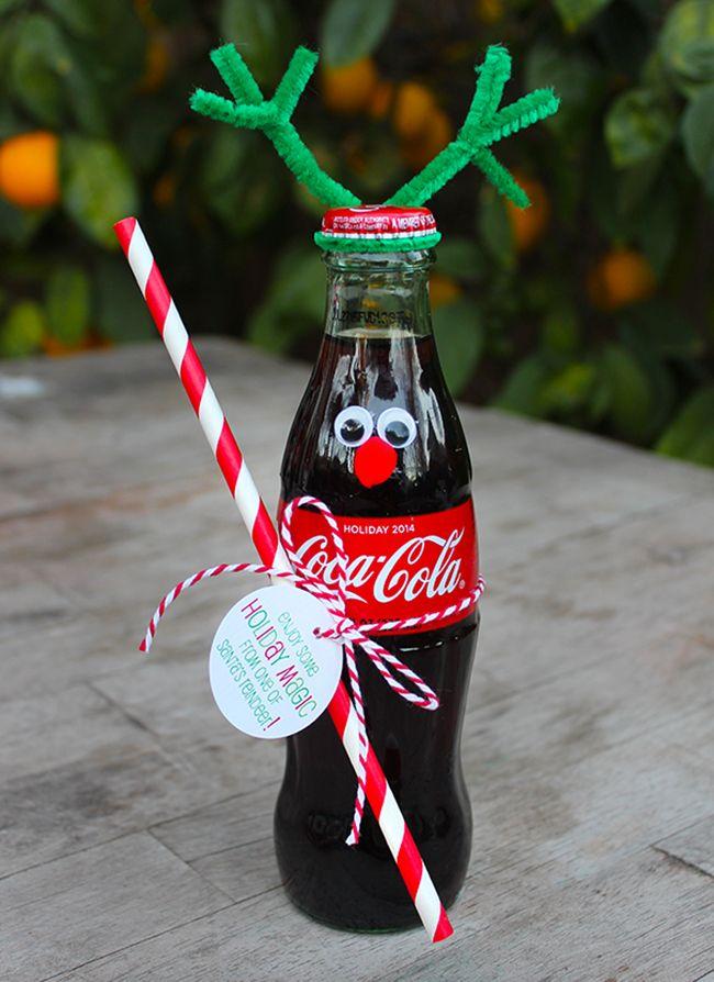 Christmas reindeer crafts | Coke Bottle Reindeer Christmas gift idea - Popsicle Blog