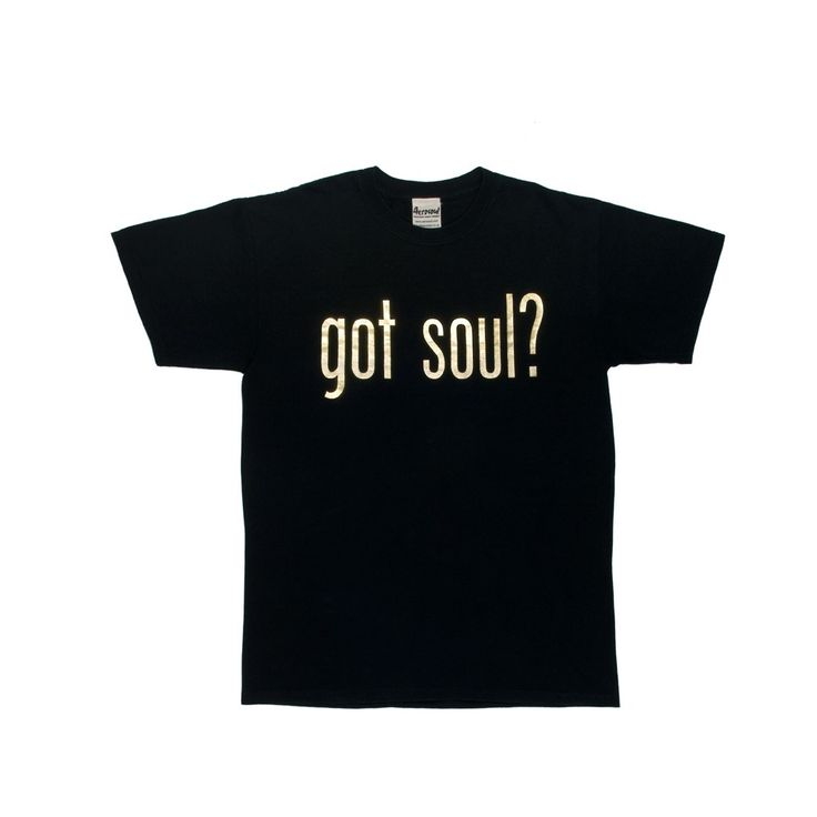 Got Soul? Metallic Gold T-Shirt (Black)
