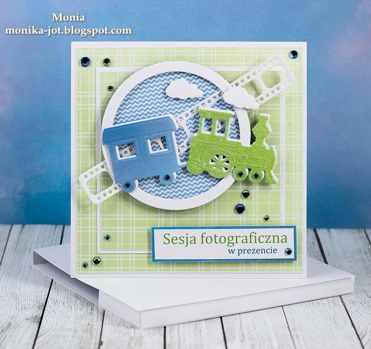 card for kids & boys - Marianne design train die  LR0308 - clouds filmstrip negatives photo film  - sky skyer tog filmstripe - My paper land