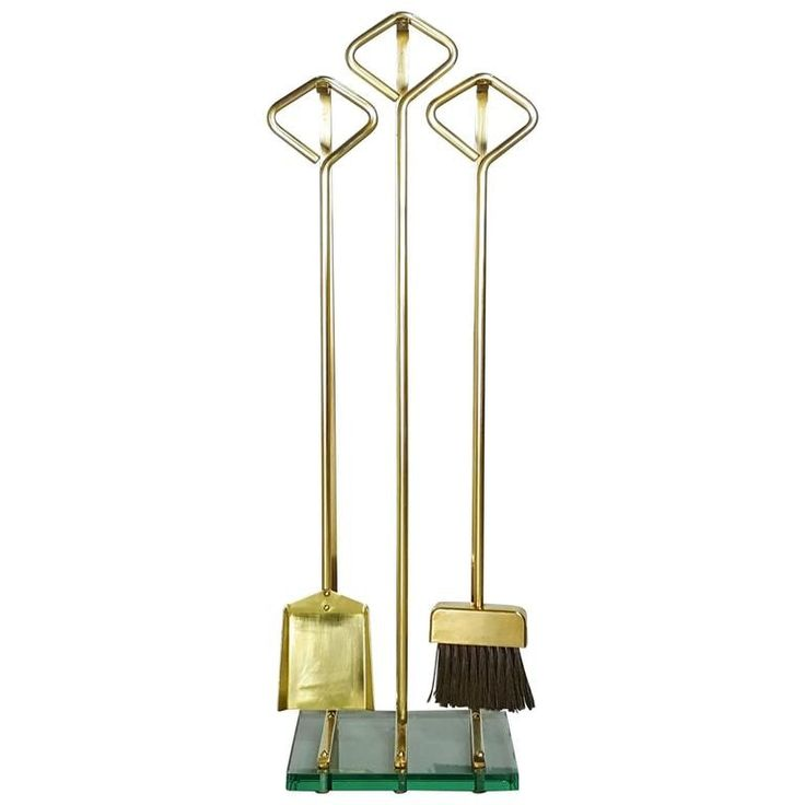 Buy Brass Fireplace Tools styled after Fontana Arte by Refine Limited - Limited Edition designer Accessories from Dering Hall's collection of Mid-Century Modern Fireplace Mantels & Accessories.