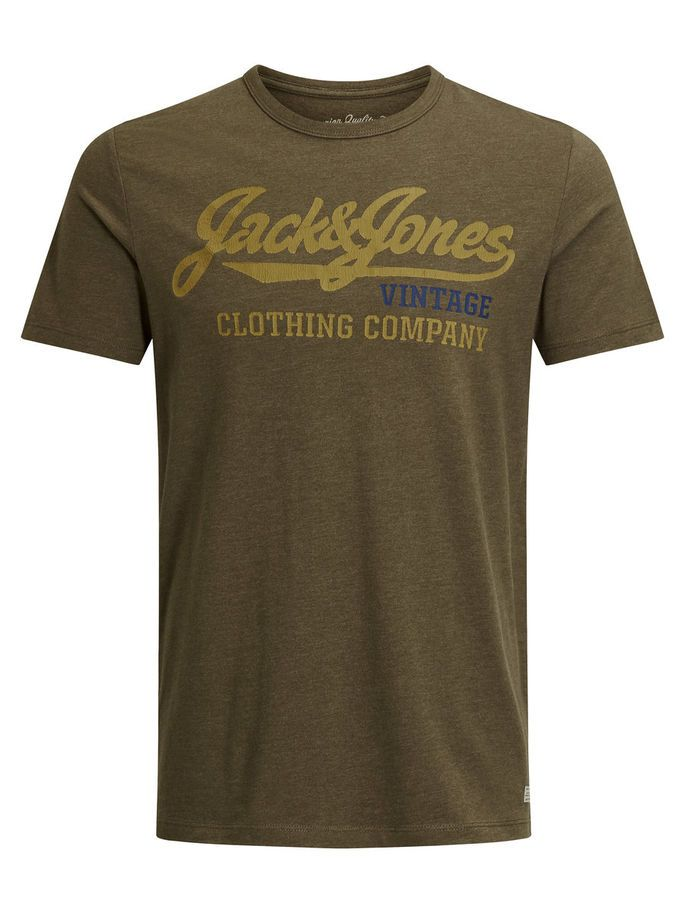 Slim fit t-shirt with a cracked chest print for an authentic and vintage look. It is easy to style, made from pure cotton for a soft feel | JACK & JONES #gift #ideas #for #men #him