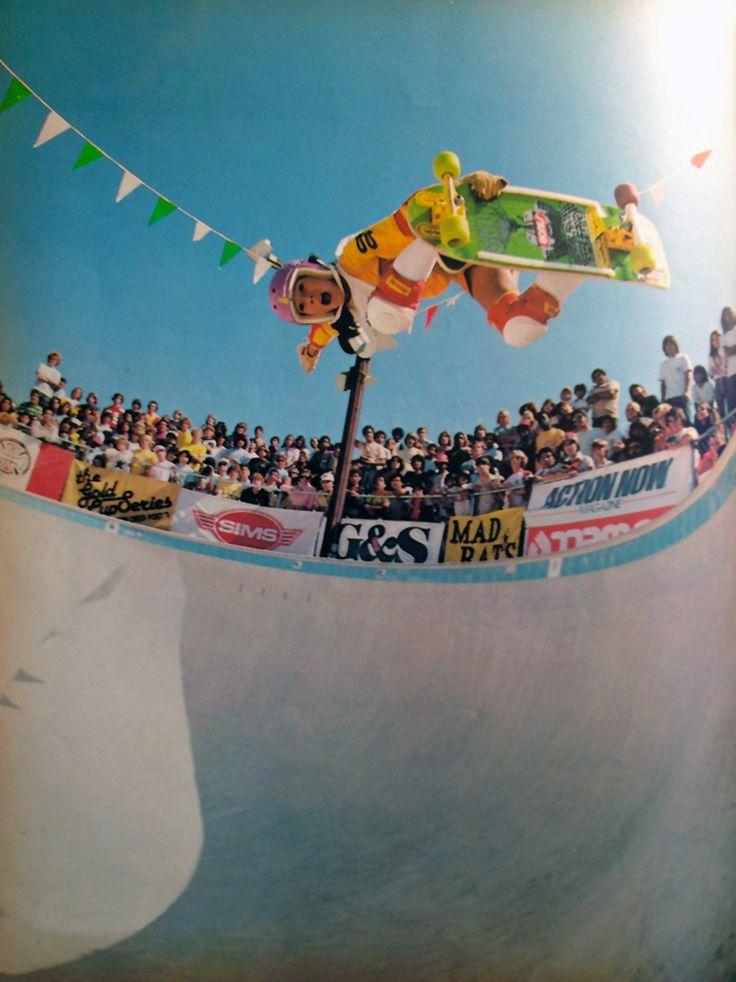 Christian Hosoi, Marina del Rey Upper Keyhole Pool, 1981 #skateboarding