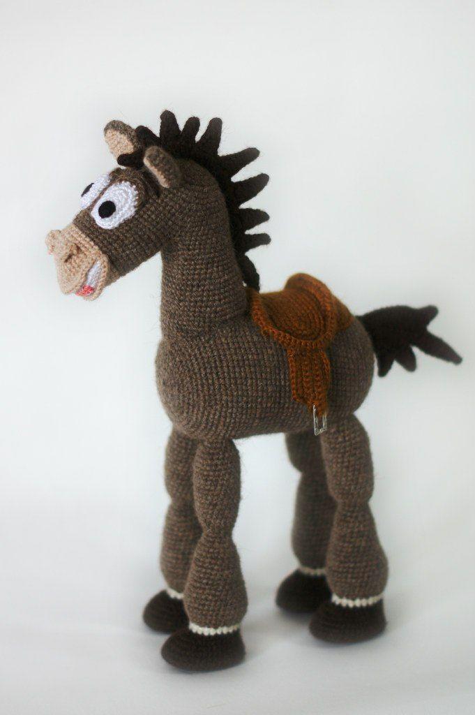 """Конь Булзай из м/ф """"История игрушек"""". Связан из шерсти верблюда. Horse Bullseye…"""