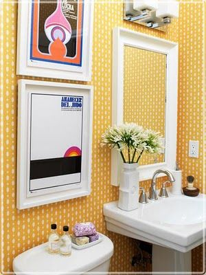 Small Bathrooms Yellow 198 best colorful bathrooms images on pinterest | bathroom ideas
