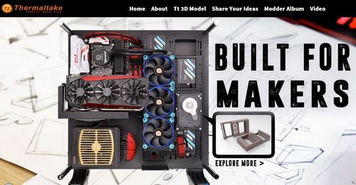 Thermaltake Reveals 3DMakers.thermaltake.com Professional 3D Printable PC Components Website for MAKERS