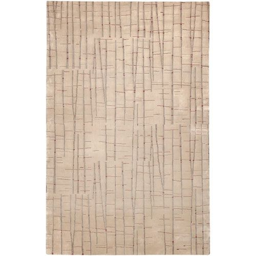 Shibui Tan and Cocoa Rectangular: 5 Ft. by 8 Ft. Rug - (In Rectangular)