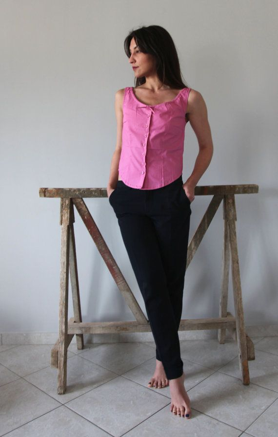 SALE 50% OFF Pink spring-summer Shirt top. by AnnaOhSailors