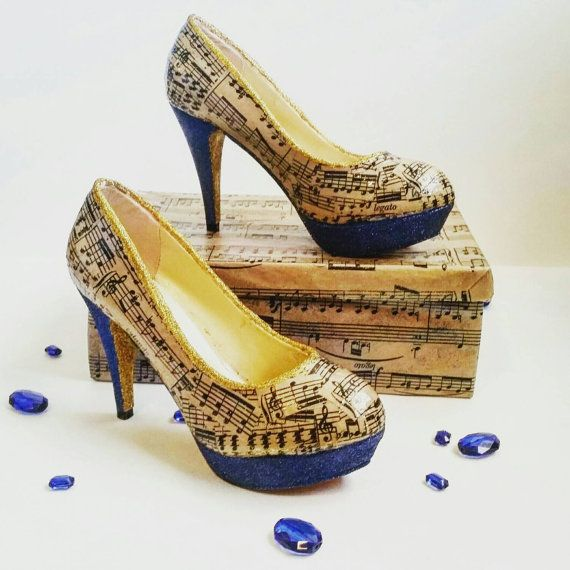 Music Shoes, Wedding Shoes Can request custom orders here:  listing at https://www.etsy.com/listing/234362596/pretty-sheet-music-heelscustom-order
