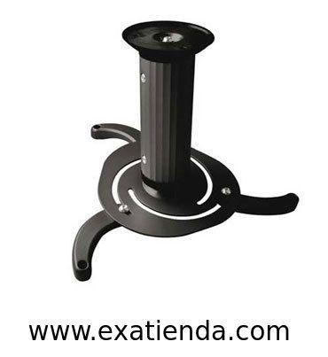 Ya disponible Soporte proyector de techo giratorio   (por sólo 26.99 € IVA incluído):   - Soporte metálico giratorio e inclinable para proyector - Carga máxima: 10kg - Distancia entre techo y proyector: 80mm ó 170mm - Angulo inclinación: -15º ~ +15º - Angulo de giro: 360º - Color: negro  -P/N: PJ1010TN-B Garantía de 24 meses.  http://www.exabyteinformatica.com/tienda/782-soporte-proyector-de-techo-giratorio #soportes #exabyteinformatica