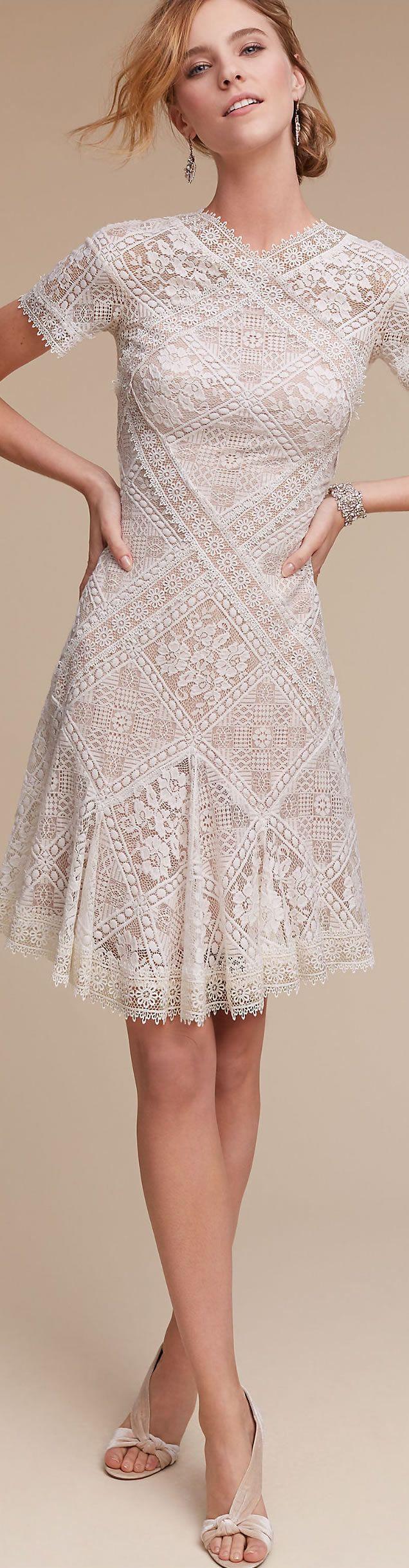 Hudson Graphic Lace Dress