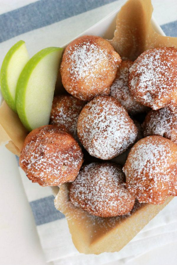 Easy Apple Fritters Recipe - from RecipeGirl.com