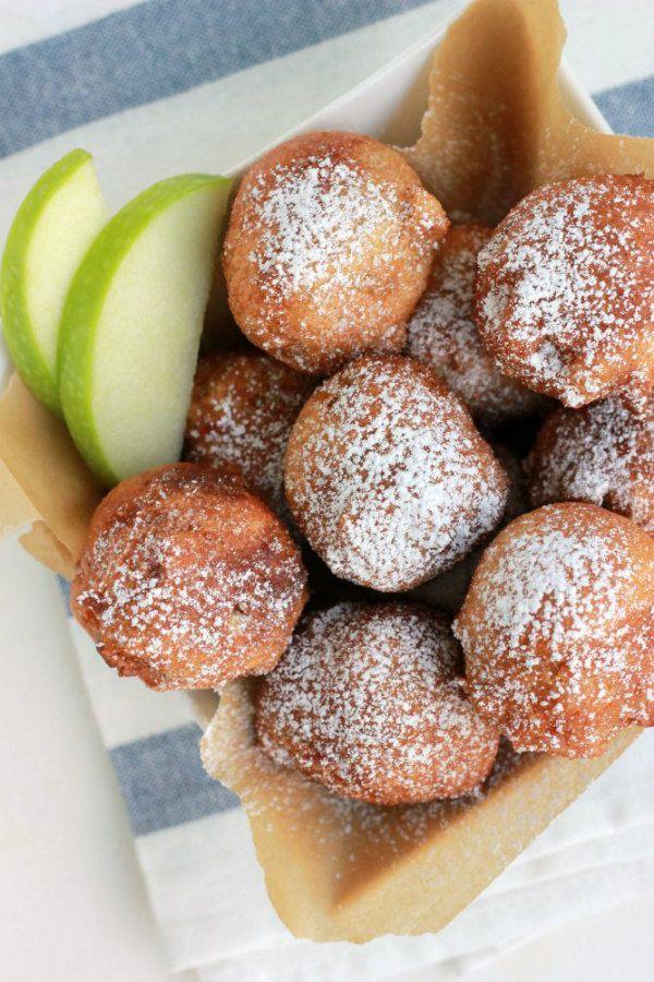 Easy Apple Fritters Recipe - from RecipeGirl.com