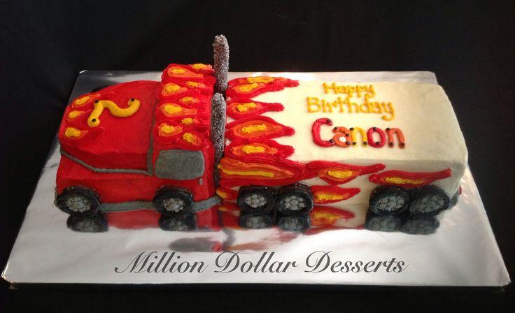 Semi-Truck Cake by Million Dollar Desserts