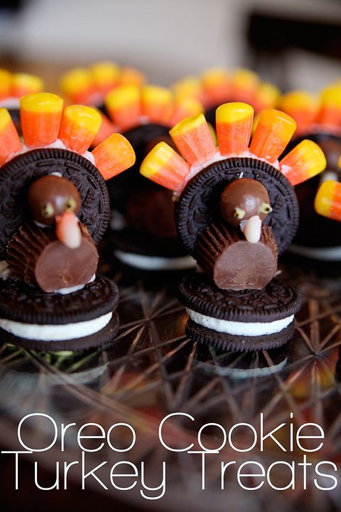 Oreo cookie thanksgiving turkeys