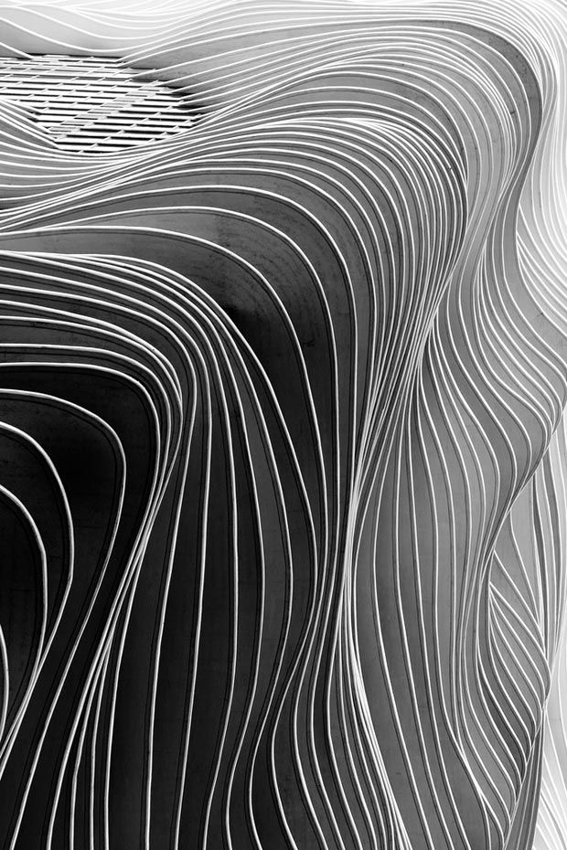 Stunning detail of Chicago's mesmerizing Aqua Tower by Studio Gang Architects...
