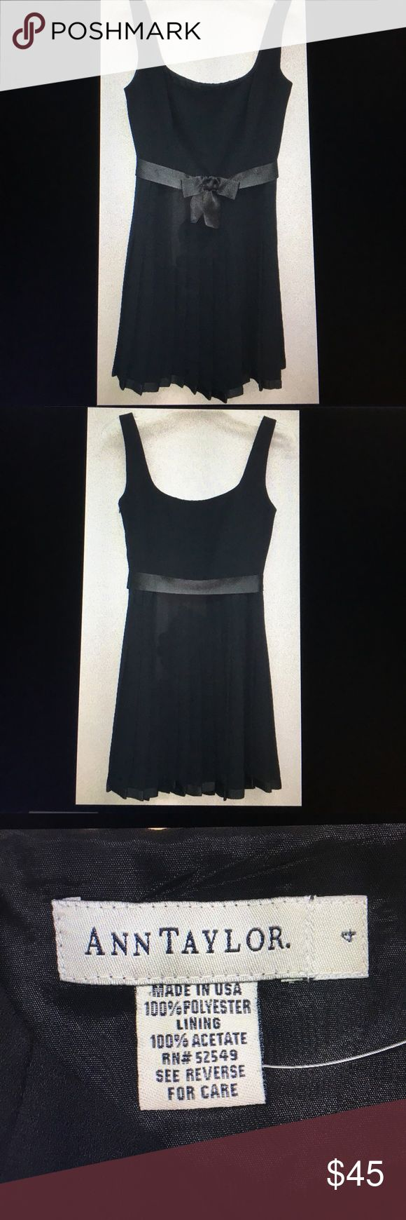 "Ann Taylor sleeveless pleated cocktail dress Sz 4 New with tags. Length 34"", pit to pit 17.25"", waist 26"" SMOKE FREE HOME Ann Taylor Dresses Midi"