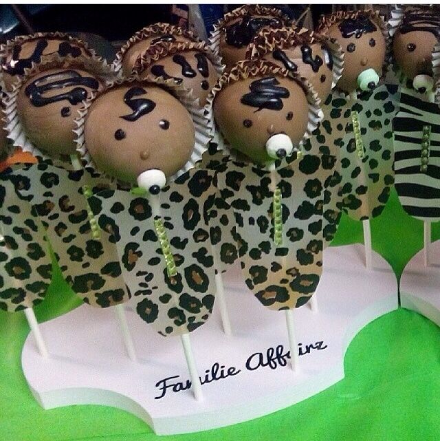 So cute for a baby shower! Wild Baby Cake Pops in a 12-Pop Scallop Cake Pop Stand from CakePopStandCo.com