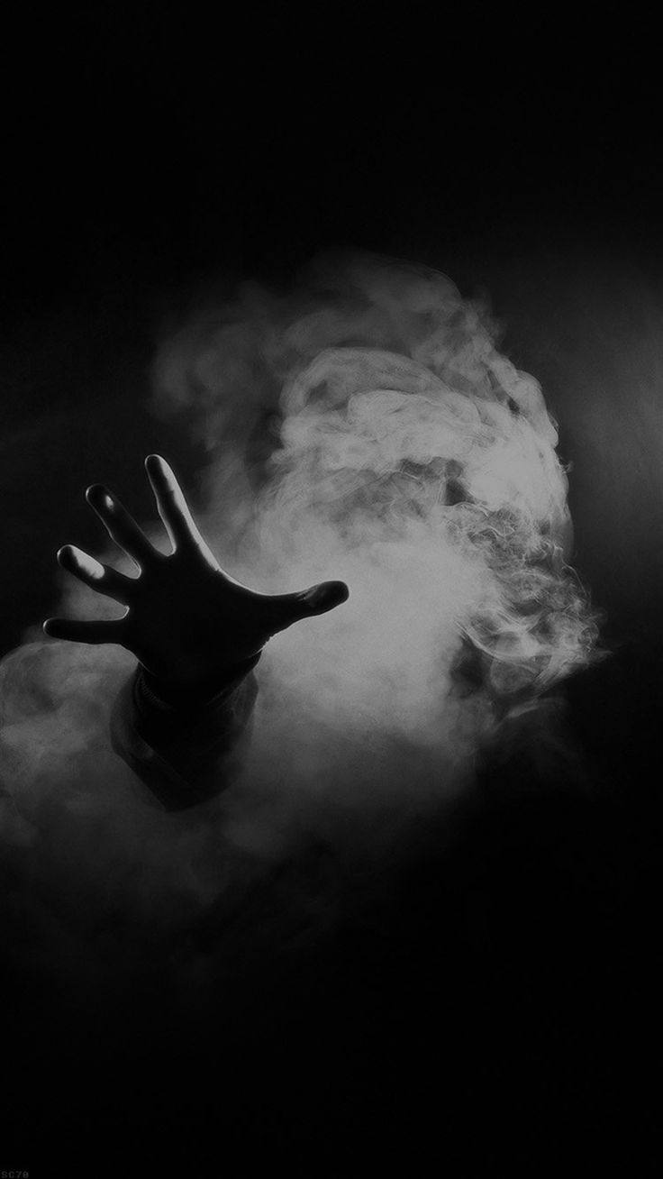 Hand From Smoke Black iPhone 6 wallpaper
