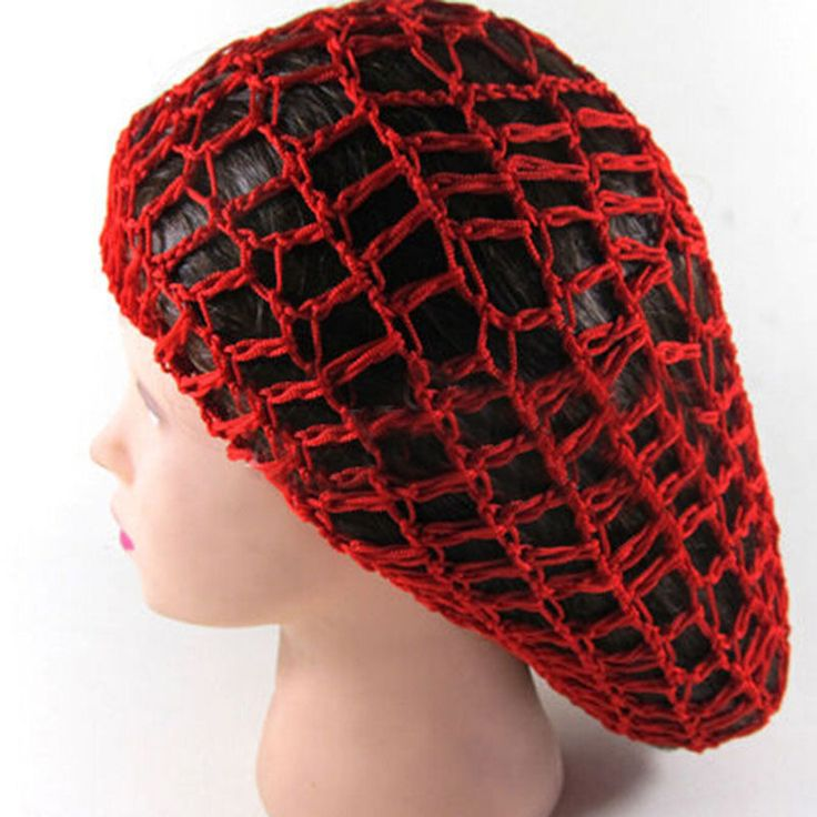 "Teketkom - Buy ""Women Lady Soft Rayon Snood Hair Net Crochet Hairnet Knit Hat Cap Hairnet New"" for only 1.65 USD."