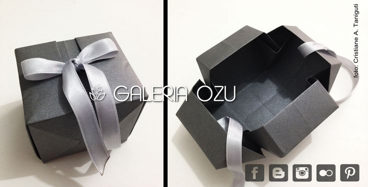 Little gift box!!  #origami #origamiart #origamidecor #origamibox #box #giftbox #gift #galeriaozu #indaiatuba #sp #saopaulo #paper #paperdecor #paperfolding #folding #papel #dobradura #laços #lacinho #lacos #ribbon